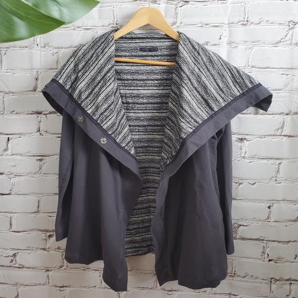 Lululemon Savasana Wrap Coal Strata Stripe Grey